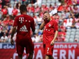 Ribéry n'a pu contenir ses larmes avant la rencontre. FCBayern