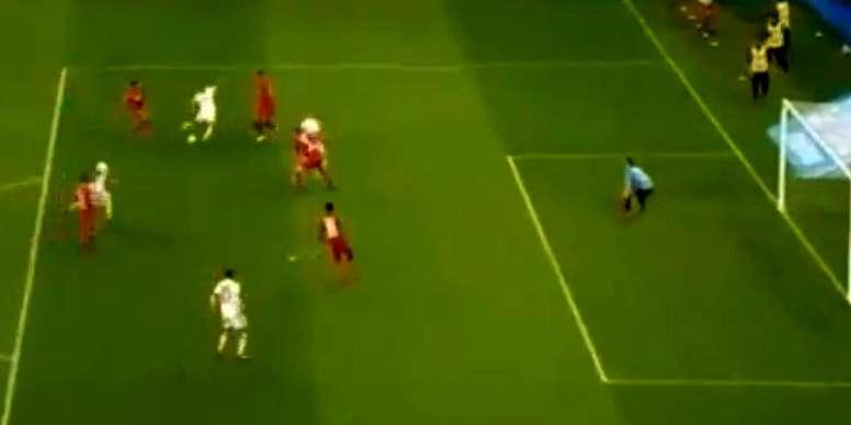 Ribéry puso el 0-2 en el marcador. Captura