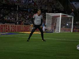 Armani recibió las críticas de Marcos Díaz. RiverPlate