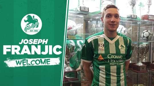 Franjic ya luce los colores de su nuevo equipo en Australia. GreenGullySC