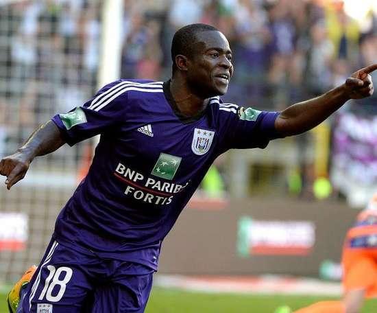 El ghanés tiene contrato con el Anderlecht hasta 2019. Twitter