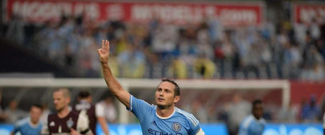 Frank Lampard fue elegido el hombre del partido. NYFC