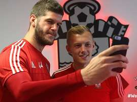 Fraser Forster (R) and James Ward Prowse (L) have committed long-term to Southampton. Twitter