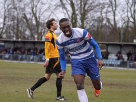 Freddie Ladapo during a game with Margate. Margate-fc.co.uk