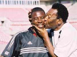 Freddy Abdu junto a Pelé. Twitter.