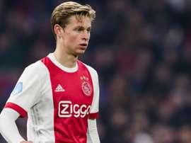 Frenkie De Jong, lors d'un match avec l'Ajax. Ajax