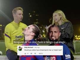 Frenkie de Jong relève le défi. Twitter/FCBarcelone_es