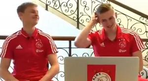 De Jong y De Ligt tienen claras sus preferencias. AjaxTV