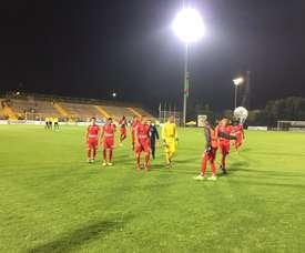 Patriotas remontó la eliminatoria ante Everton Viña del Mar. PatriotasBoyaca