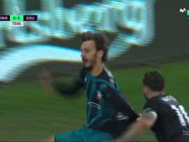Gabbiadini marcó el 0-1. Captura
