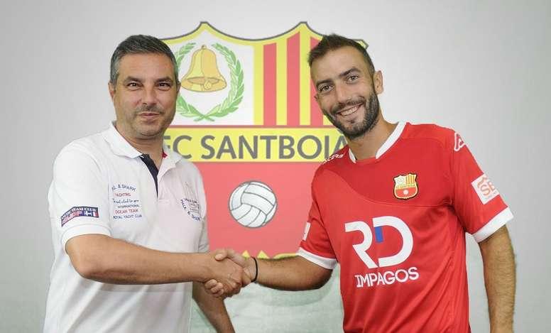 El interior llegó a un acuerdo por una temporada. FCSantboià
