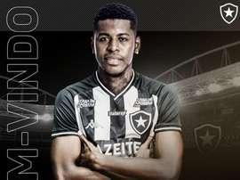 Botafogo contrata Gabriel Cortez. Twitter/Botafogo