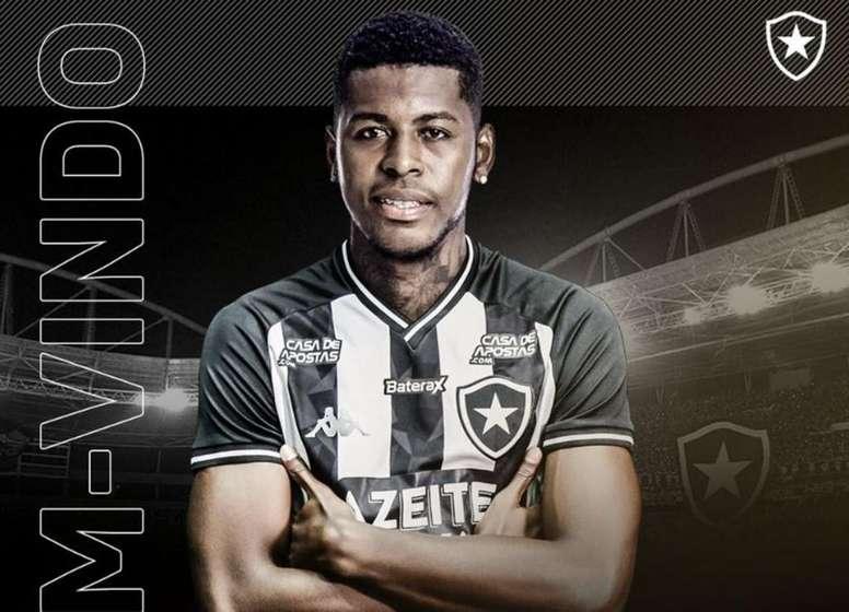 Botafogo se hace con los servicios de Gabriel Cortez. Twitter/Botafogo