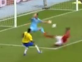 Gabriel Jesus opened the scoring for Brazil against Austria. Captura