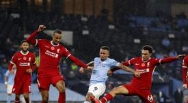Gabriel Jesus voltou a marcar gol após se recuperar de lesão. EFE/EPA/Clive Brunskill