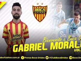 Los argentinos dan la bienvenida a Morales. ClubBocaUnidos