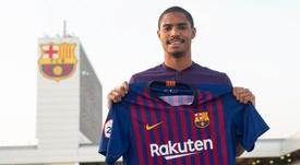 Novaes fichó por el Barcelona B este invierno. Twitter/FCBarcelonaB