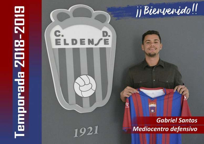 El Eldense anunció el fichaje de Gabriel Santos. Twitter/CD_Eldense