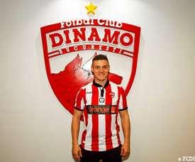Torje jugará en Rumanía hasta final de temporada. Twitter/FCDinamoEN