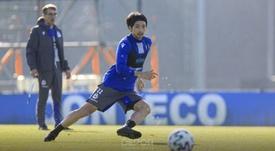 Shibasaki, otra buena noticia para el Deportivo. Twitter/RCDeportivo