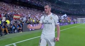 Bale marcó después de varios intentos. Captura/Movistar