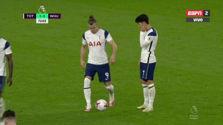 Bale voltou a estrear pelo Tottenham. Captura/ESPN