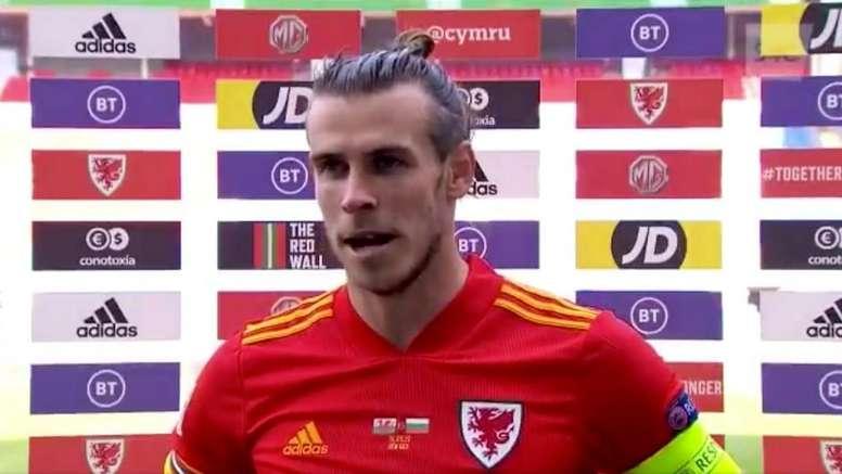 Bale spoke after the match. Captura/UEFATV