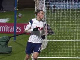 Bale starts and scores again. Screenshot/DAZN