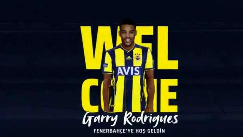 Rodrigues fichó por el Fenerbahçe. Twitter/Fenerbahce