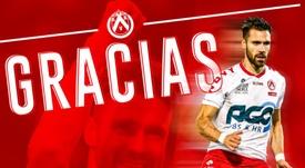 Kagelmacher llegará a Peñarol tras rescindir con el Kortrijk. kvkofficieel