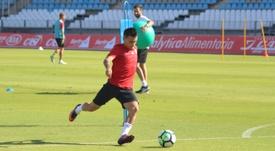 Gaspar Panadero se marcha al fútbol emiratí. UDAlmeria/Archivo