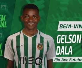 Gelson Dala vai voltar a jogar no Rio Ave. Twitter/Rio Ave