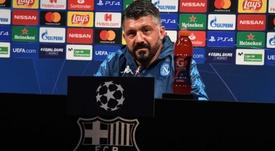 Gattuso analizó al Barça. Twitter/sscnapoli