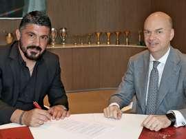 Gattuso completes AC Milan return. ACMilan