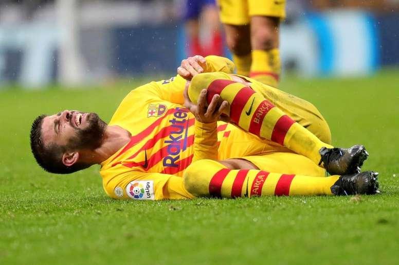 Bonne nouvelle pour le Barça et Piqué. EFE