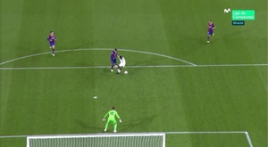 Pique was not trying to play the ball. Screenshot/MovistarLigadeCampeones