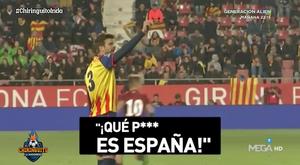 Piqué demande l'arrêt des chants anti-Espagne. Capture/ElChiringuitoTV