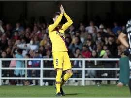 Piqué salió ovacionado del Cartagonova. FCBarcelona