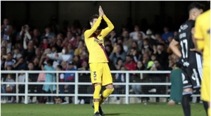 Piqué saiu ovacionado do Cartagonova. FCBarcelona