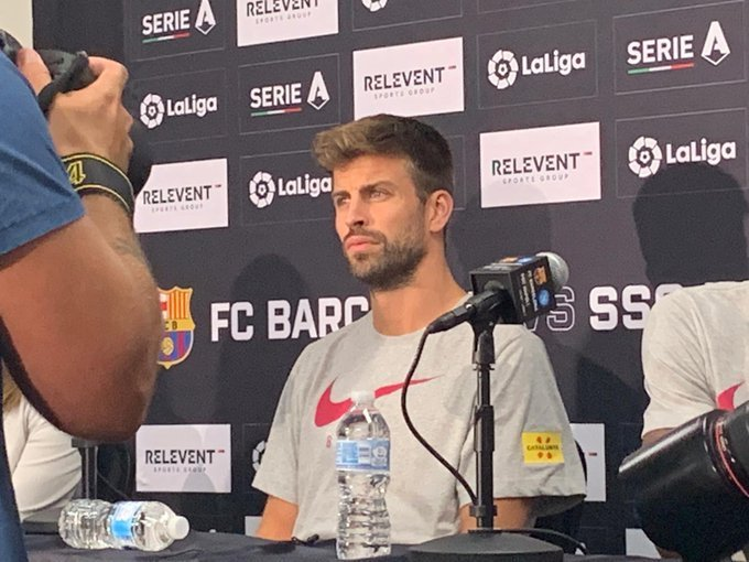 Piqué chambre le Real Madrid.  Twitter/Partidazocope