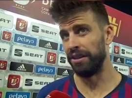 Piqué was left to analyse what happened at Benito Villamarín. Screenshot/RTVE