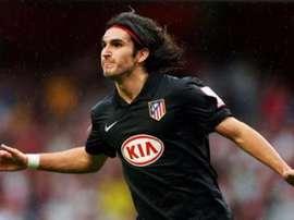 Germán Pacheco logró hacerle un gol al Arsenal con el Atlético. EFE