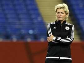 La entrenadora alemana podría ver recompensado su trabajo con este premio. AFP