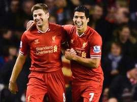 Luis Suarez Steven Gerrard Liverpool