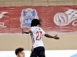 Gervinho demostró toda su magia con este viejo recurso en el choque ante el Beijing Guoan. EFE