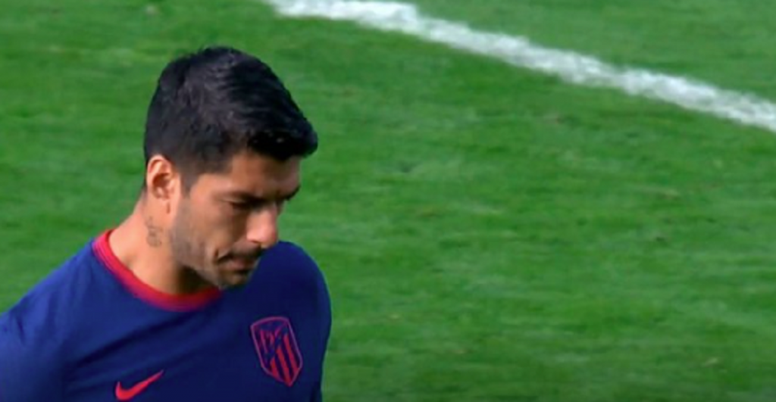 Suárez volvió a ser sustituido. Captura/MovistarLaLiga