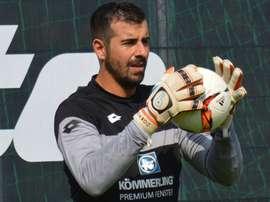 Gianluca Curci no ha logrado disputar minuto alguno desde que llegó a Alemania. FSVMainz05