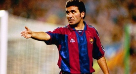 El rumano vistió la camiseta azulgrana en la década de los 90. Barcelona