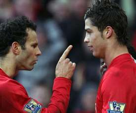 Giggs e Ronaldo, all'epoca dello United. AFP