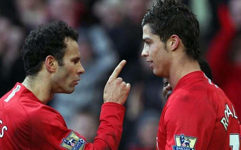 Giggs e Ronaldo, all'epoca dello United. AFP